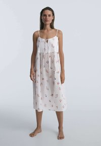 OYSHO - DITSY FLORAL - Day dress - white - 1