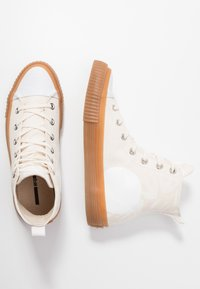 McQ Alexander McQueen - SWALLOW PLIMSOLL  - Baskets montantes - oyster/white - 3