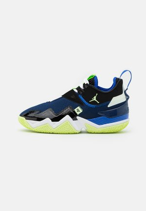 WESTBROOK ONE TAKE - Basketball shoes - black/barely volt/hyper royal/blue void/white