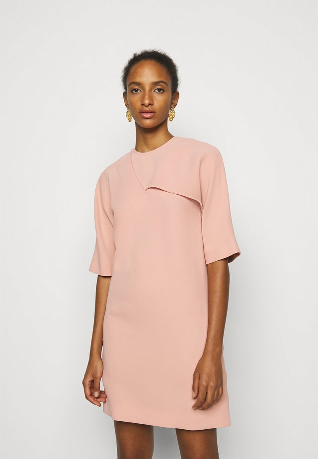 DRAPE DETAIL SHIFT DRESS - Day dress - pink