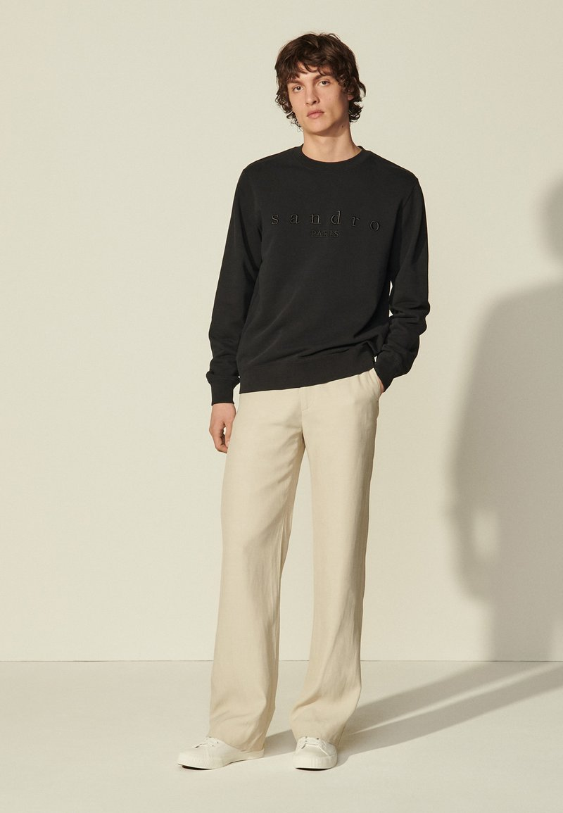 sandro - CREW UNISEX - Sweatshirt - noir