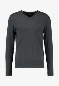 V-NECK  - Pullover - charcoal heather