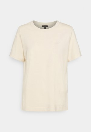 BASIC TEE - Basic T-shirt - cream beige