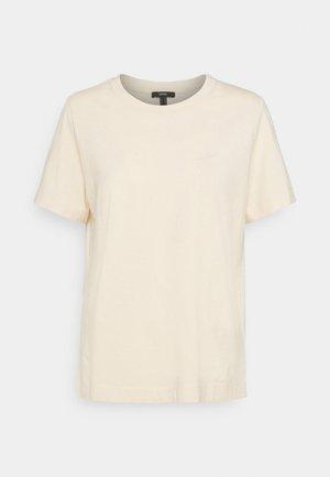 BASIC  - Jednoduché triko - cream beige