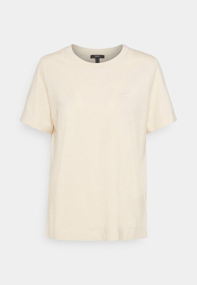 BASIC TEE - T-shirt - bas - cream beige