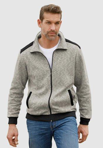 Zip-up hoodie - grau,schwarz