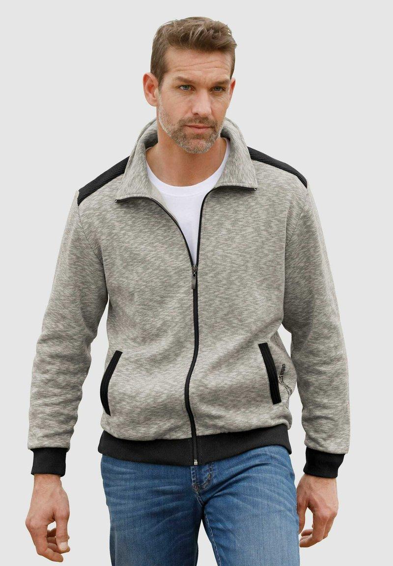 Roger Kent - Zip-up sweatshirt - grau,schwarz