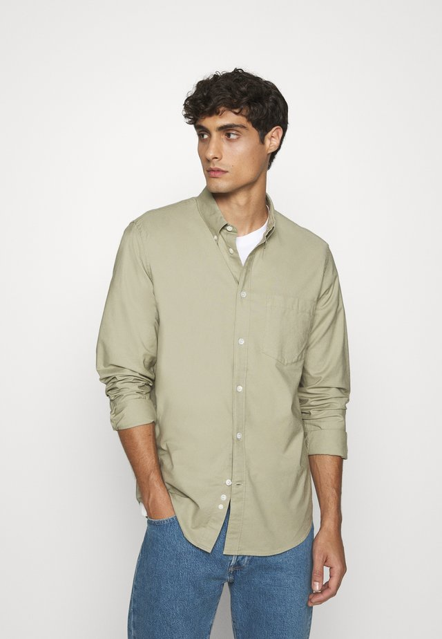 SHIRT - Shirt - khaki green dusty light