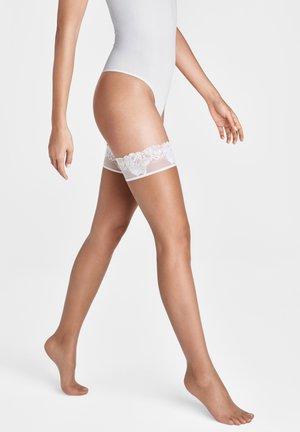 Over-the-knee socks - caramel/white