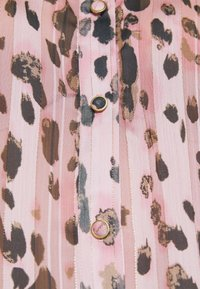 Milly - LEOPARD STRIPE BUTTON UP - Button-down blouse - pink multi - 6