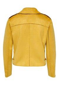 ONLY - BIKER - Veste en similicuir - golden yellow - 6