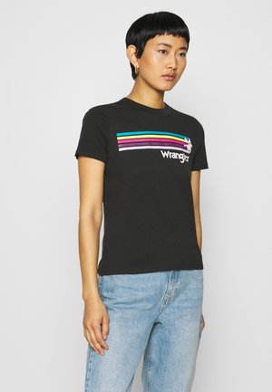 HIGH REGULAR TEE - T-shirt z nadrukiem - faded black