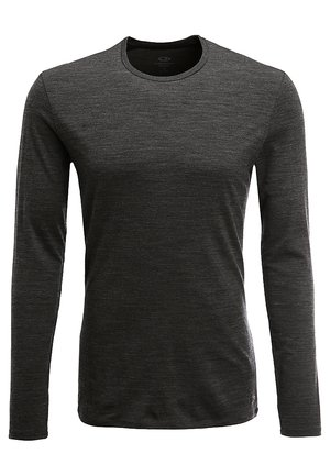 MENS ANATOMICA CREWE - Undershirt - jet heather/black