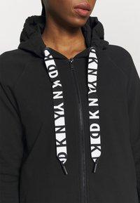 DKNY - TWO TONE LOGO ZIP FRONT - Zip-up sweatshirt - black - 5