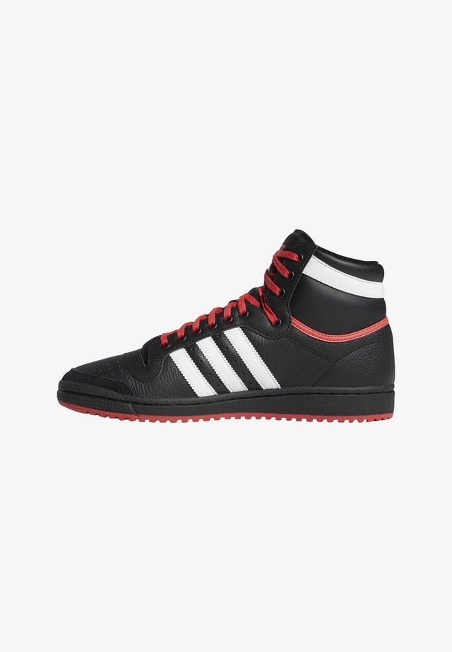 TOP TEN HI SHOES - Zapatillas skate - black