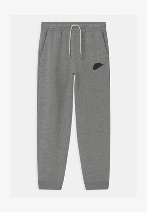 REGRIND UNISEX - Tracksuit bottoms - black/dark smoke grey