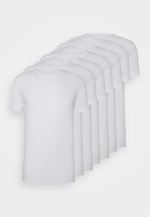 7 PACK - T-shirt - bas - white
