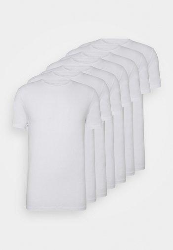 7 PACK - T-shirt - bas - white