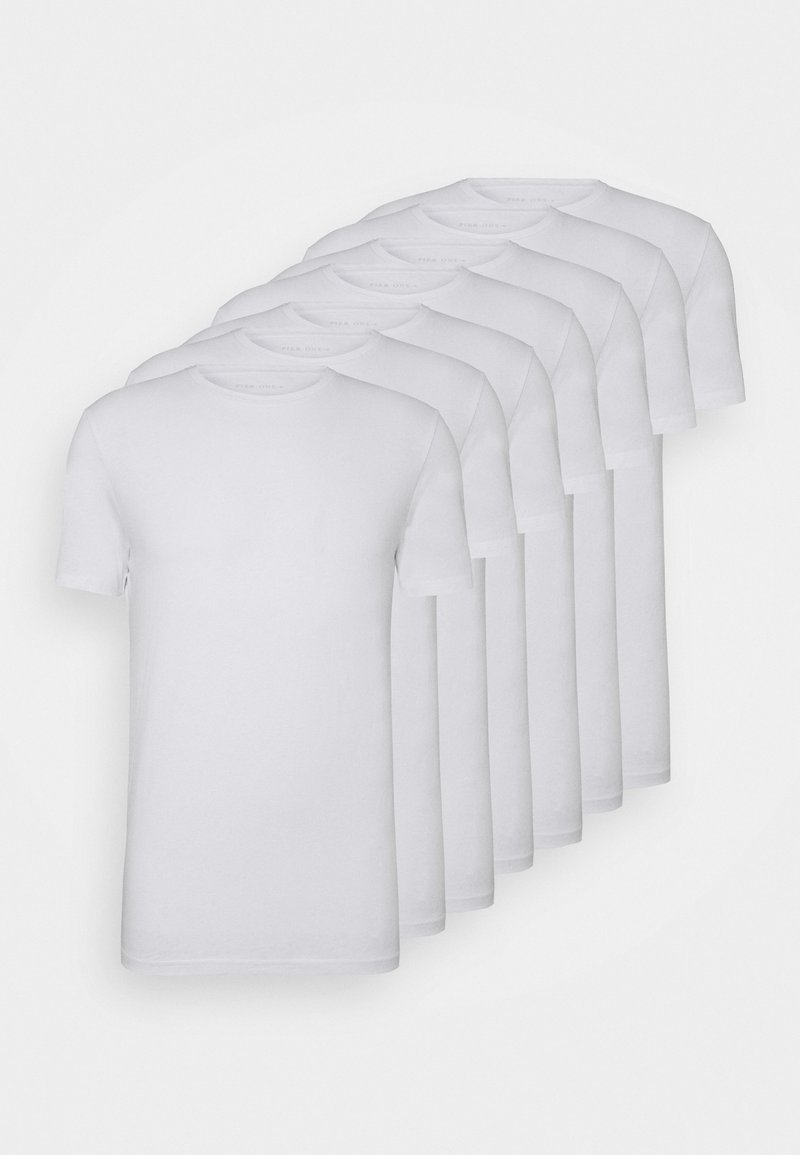 Pier One - 7 PACK - T-shirt - bas - white