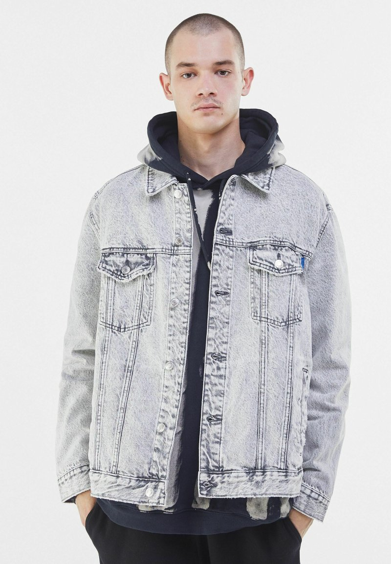 Bershka - Veste en jean - grey