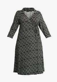 Dorothy Perkins Curve - OPEN COLLAR DRESS SPOT - Jersey dress - navy - 5