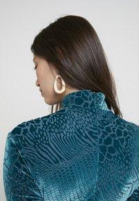 House of Holland - SNAKE DEVORE ASYMMETRIC DRESS - Occasion wear - teal - 5