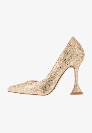MONICA - Zapatos altos - gold glitter