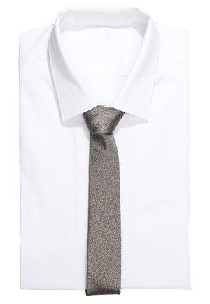 TIE SLIM - Tie - silver grey