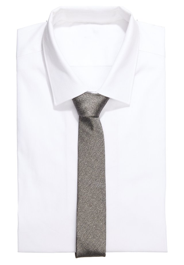 TIE SLIM - Cravatta - silver grey