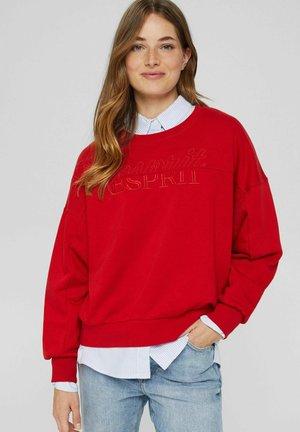 BESTICKTES - Sweatshirt - red