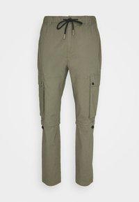 Topman - TECH BUNGEE - Cargo trousers - khaki - 4