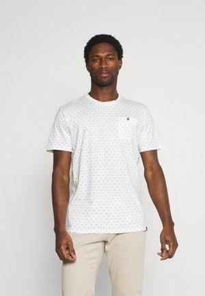 Print T-shirt - white/blue