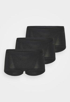SOLID MIA 3 PACK - Panties - black beauty