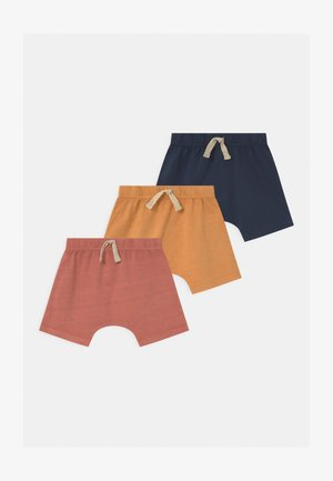 MIKKO 3 PACK UNISEX - Shorts - apricot sun/navy blazer/dust storm wash