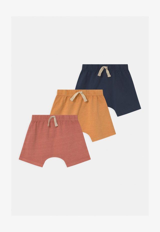 MIKKO 3 PACK UNISEX - Kraťasy - apricot sun/navy blazer/dust storm wash