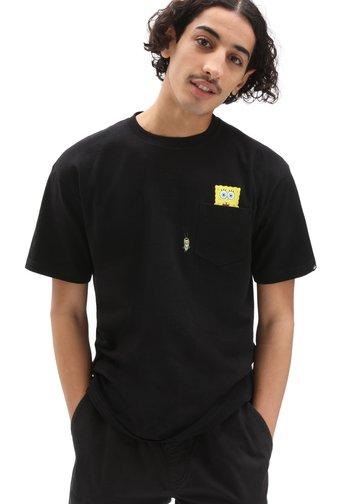 MN VANS X SPONGEBOB SPOTLIGHT POCKET SS - Print T-shirt - black