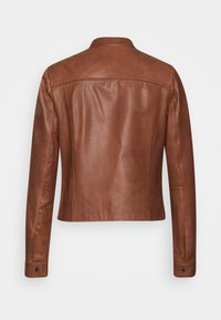 Tommy Hilfiger - DAISY JACKET - Leather jacket - cognac - 1
