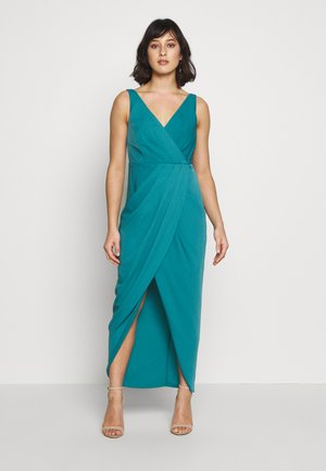 VICTORIA WRAP DRESS PETITE - Iltapuku - teal