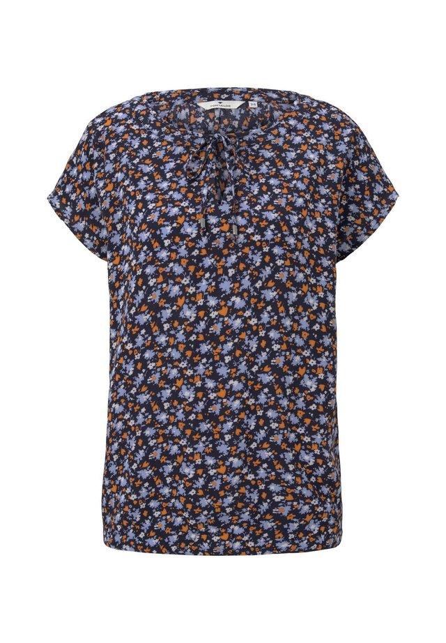 BLUSEN  SHIRTS GEMUSTERTES SHIRT MIT SCHLEIFE - Bluzka - navy floral design