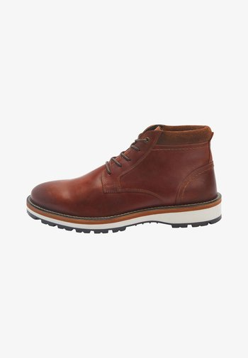 CLEATED  - Lace-up ankle boots - brown