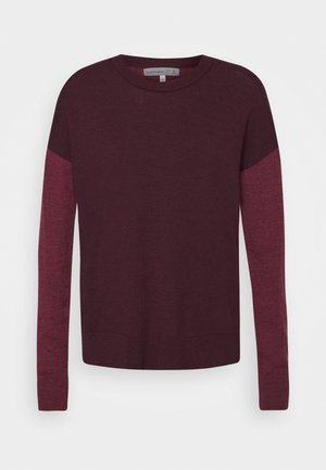 CREWE - Jumper - merlot heather