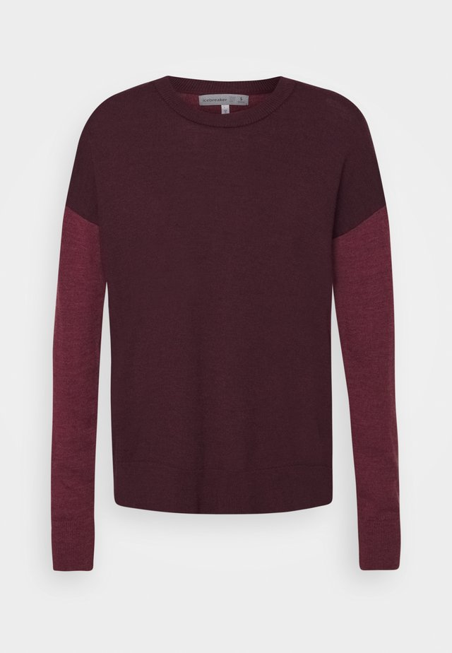 CREWE - Strikpullover /Striktrøjer - merlot heather