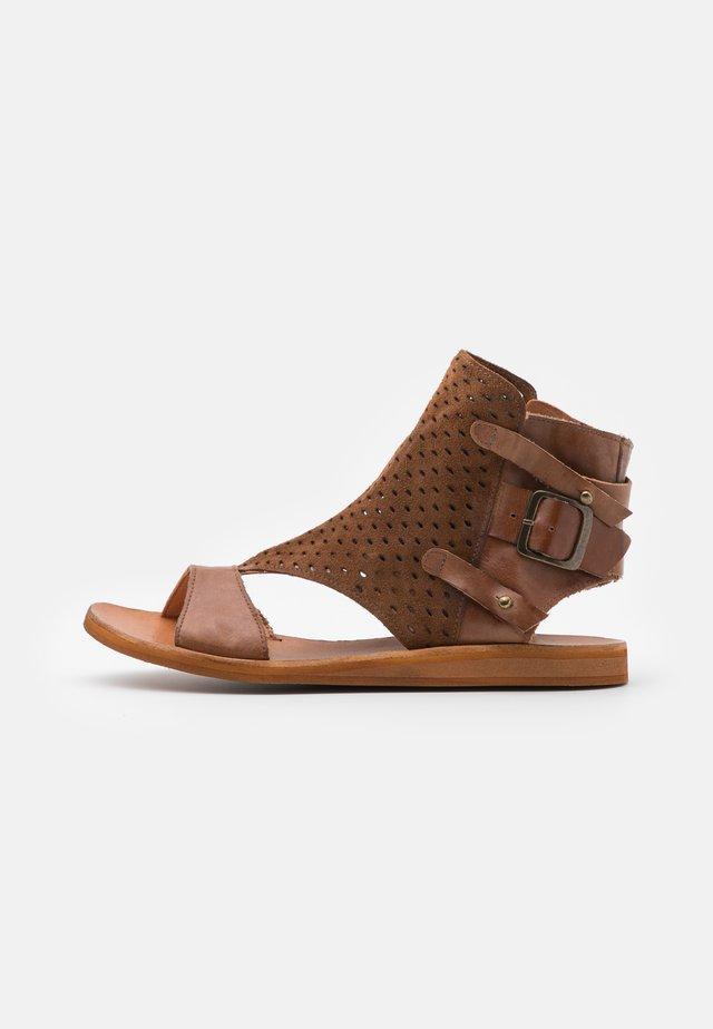 CAROLINA  - Ankle cuff sandals - brown