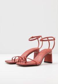 Topshop - NATURE STRAPPY BLOCK - T-bar sandals - rust - 4