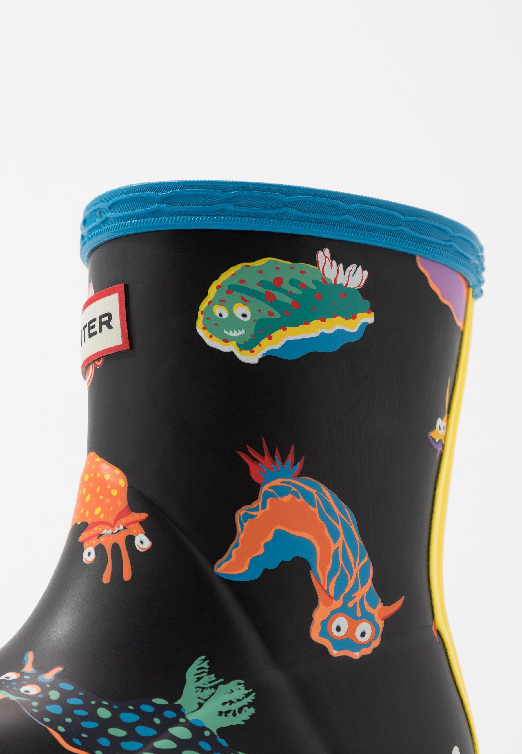 Particular Cheapest Hunter ORIGINAL KIDS FIRST CLASSIC SEA MONSTER PRINT - Wellies - blue bottle   kids shoes 2020 tqguj