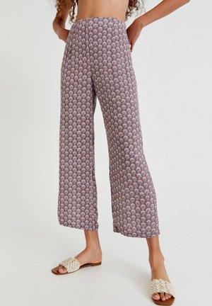 Trousers - mottled purple