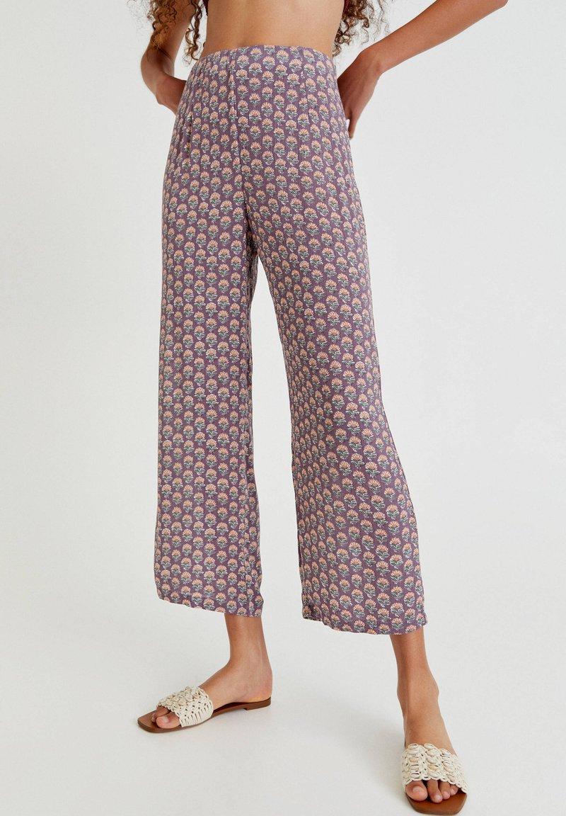 PULL&BEAR - Trousers - mottled purple