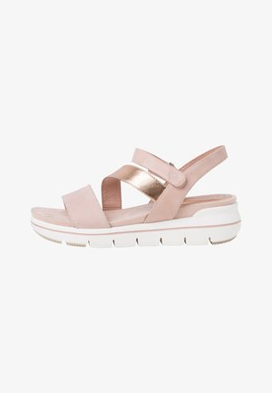 Platform sandals - rose comb