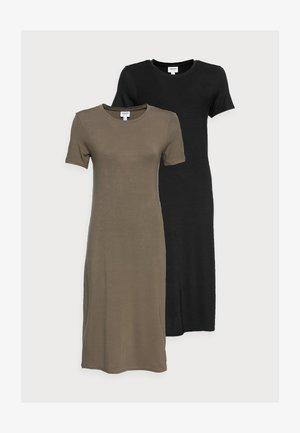 VMGAVA DRESS PETITE 2 PACK - Vestito di maglina - black/bungee cord