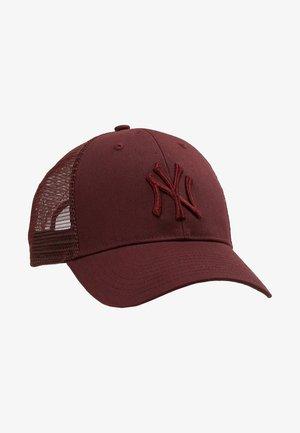 NEW YORK YANKEES BRANSON UNISEX - Kšiltovka - dark maroon